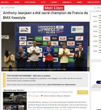 Article championnats de France Reims