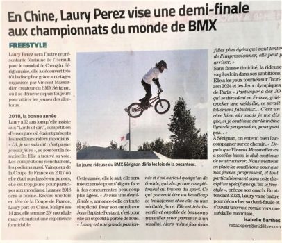 Laury Perez Sport au féminin Midi Libre V2 - 04102019